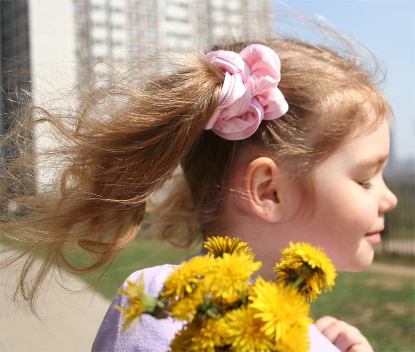 Хвостики-цветочки. Хвостики-косички