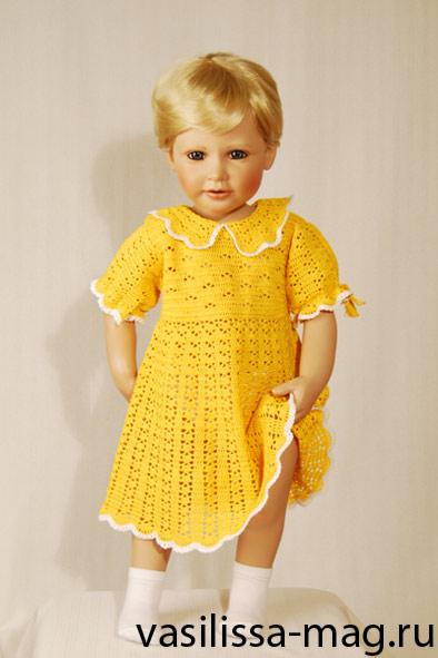 вяжем детям: платье крючком. Одежда для детей