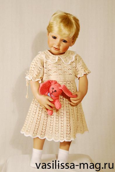 вязание для детей - летнее платье. Одежда для детей