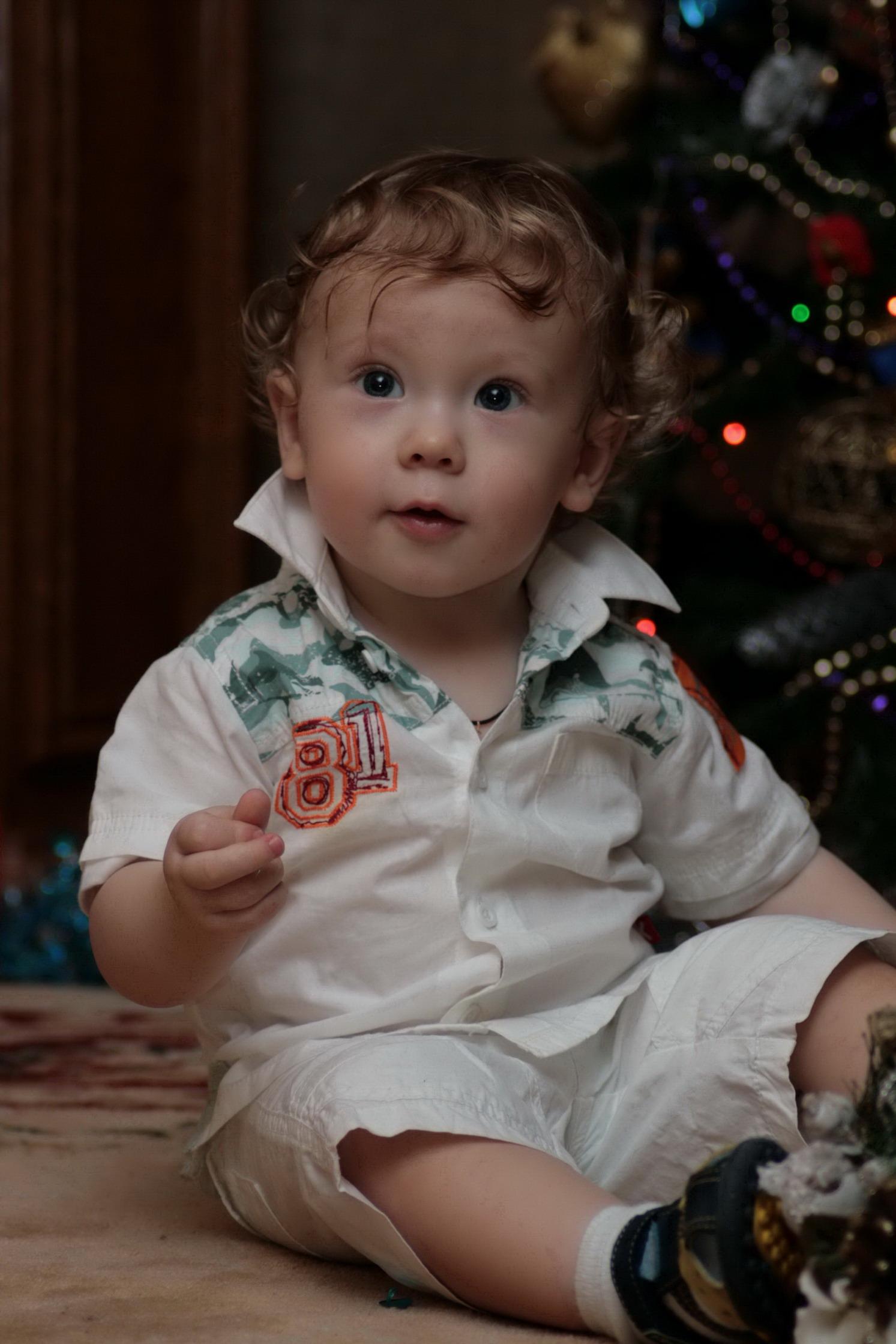 Сын Егор (9месяцев). Детские портреты