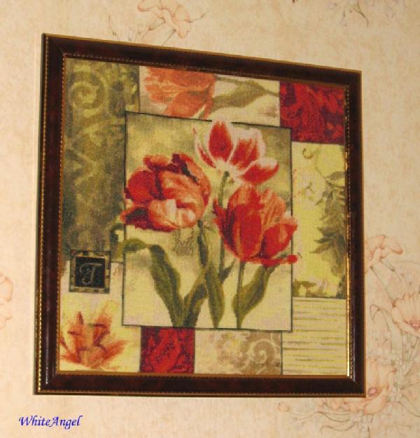 Kustom Krafts - Пестрые тюльпаны. Растения (в основном цветы)