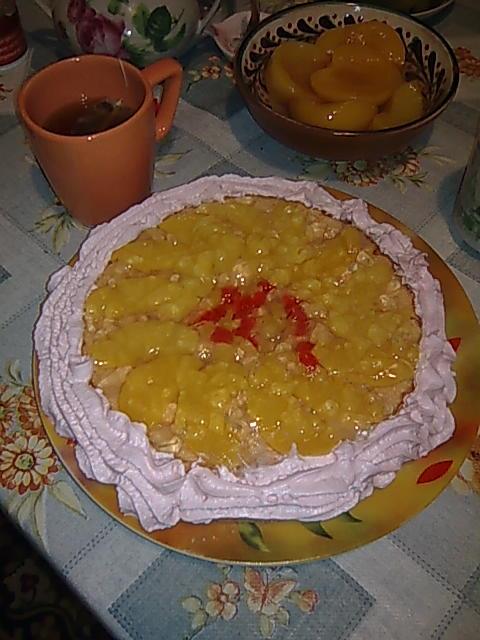 Персиковый торт. Кулинарные шедевры