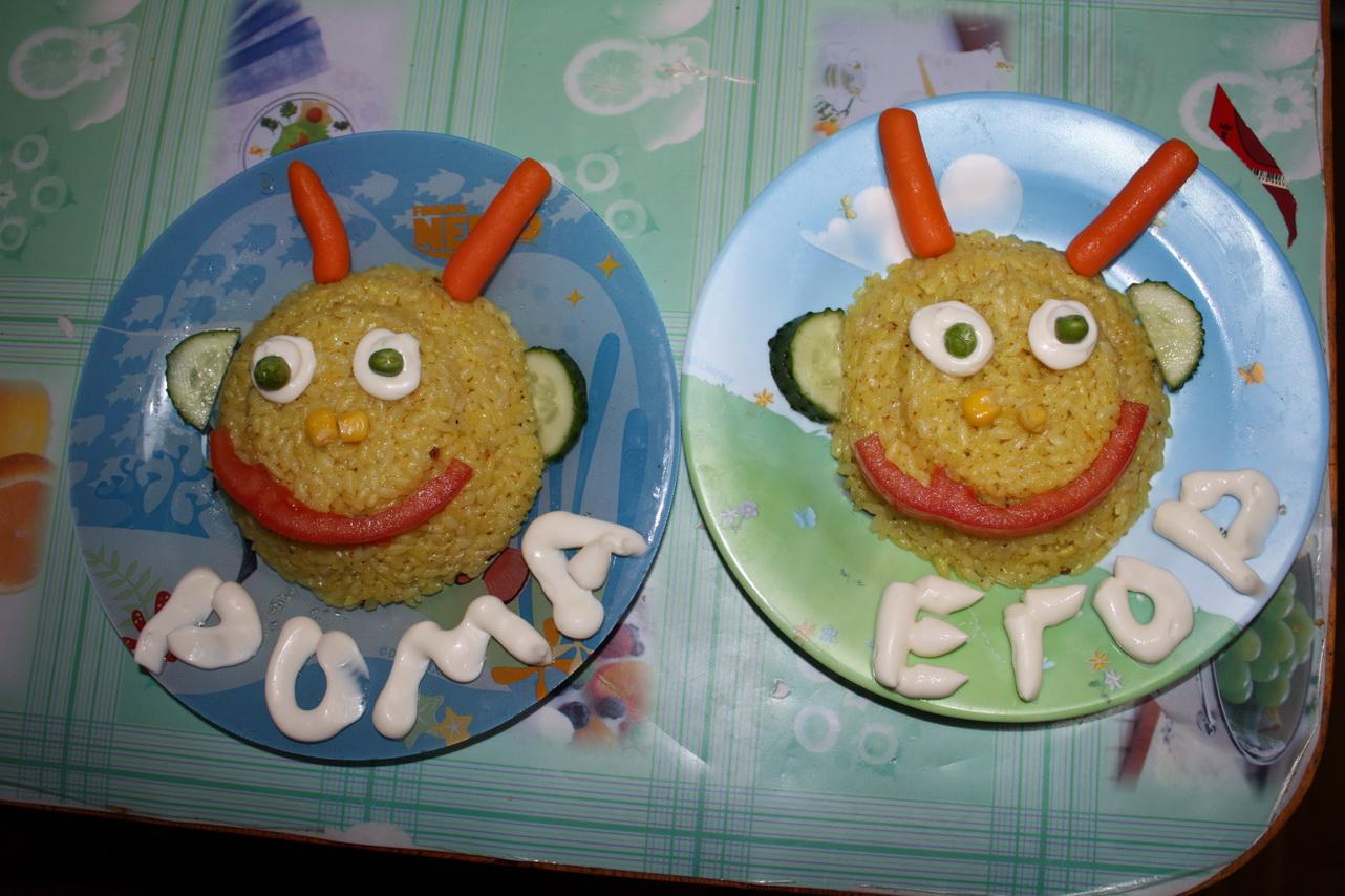 Детский ужин :). Кулинарные шедевры