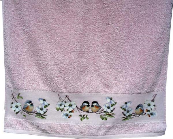 Банное полотенце. Птицы