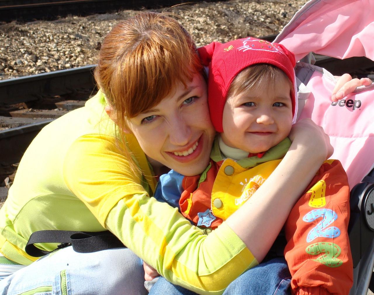 Полина с мамой. Красотки