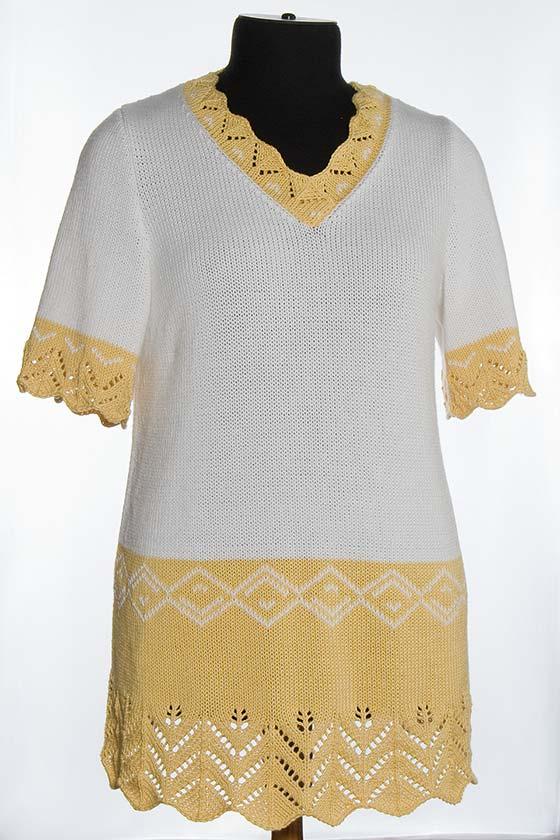 Вязаный женский блузон. Одежда