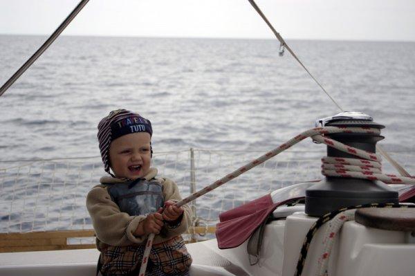 Маринка. 1 год 4 мес. Яхта. Адриатика. Отдых у воды