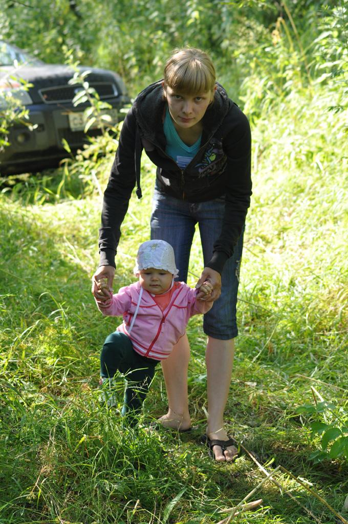 А мы с мамой за грибами.... Моя семья