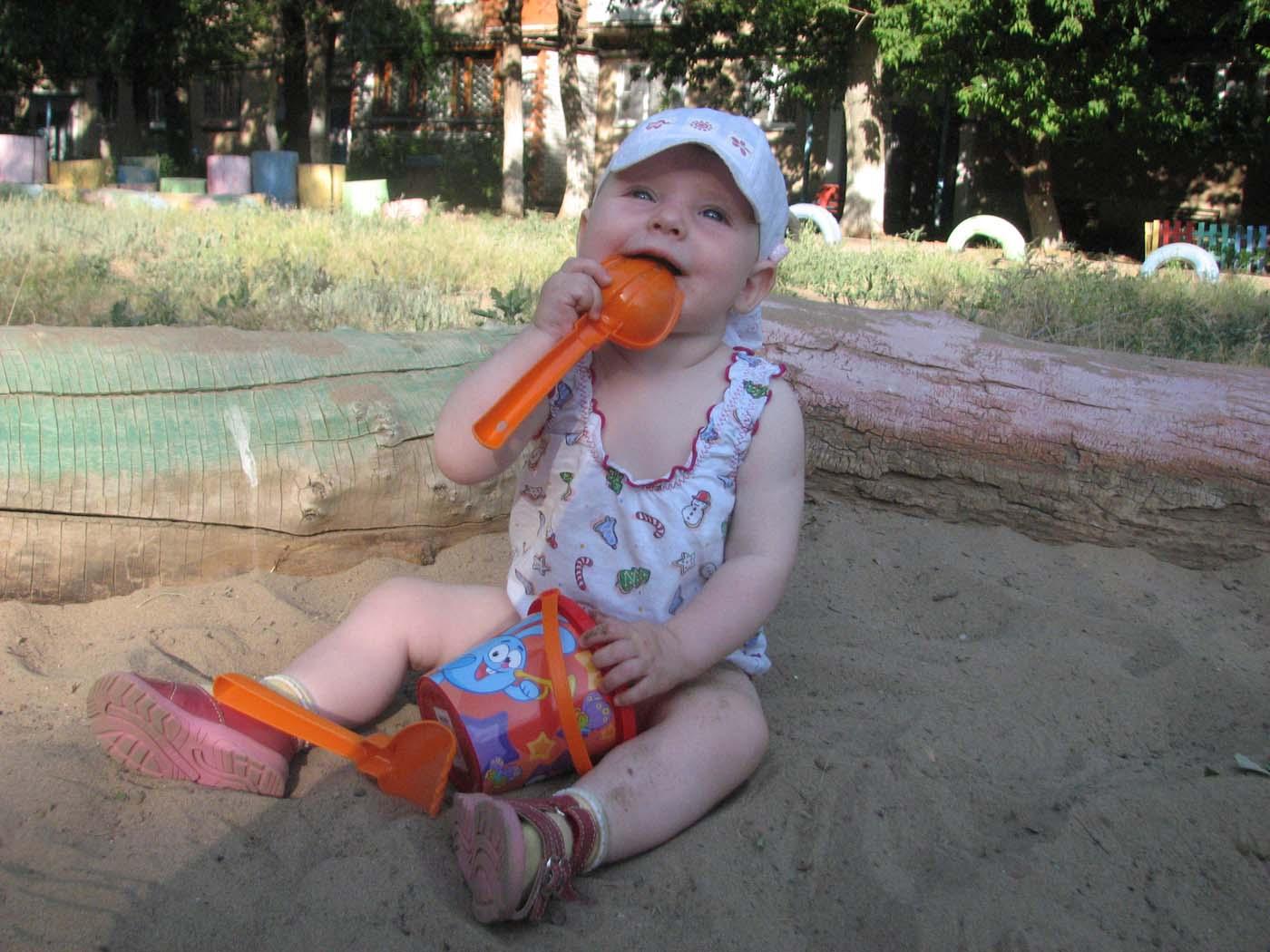 Вот песочек на обед - лучшее блюдо. Пробуем на зуб!
