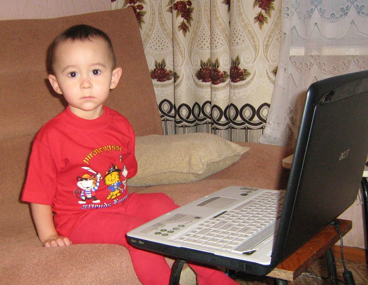 Руден работает. Дети и техника
