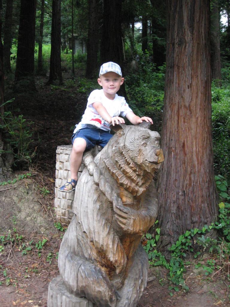'Путешествовать на медведе? А что,это идея!'. Юные путешественники