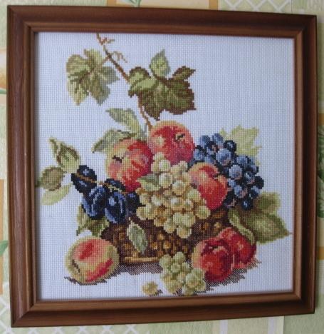 Яблоки и виноград. Рукодельный конкурс 'Дары лета'