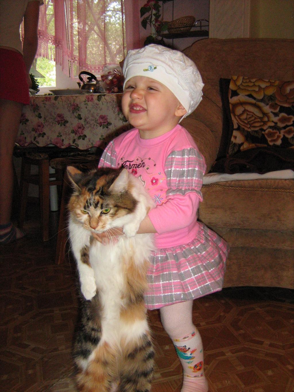 Потанцуем?. Ребенок и   котенок