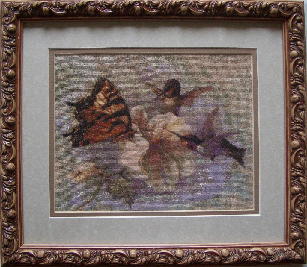 Бабочка и колибри. Рукодельный конкурс 'Дары лета'