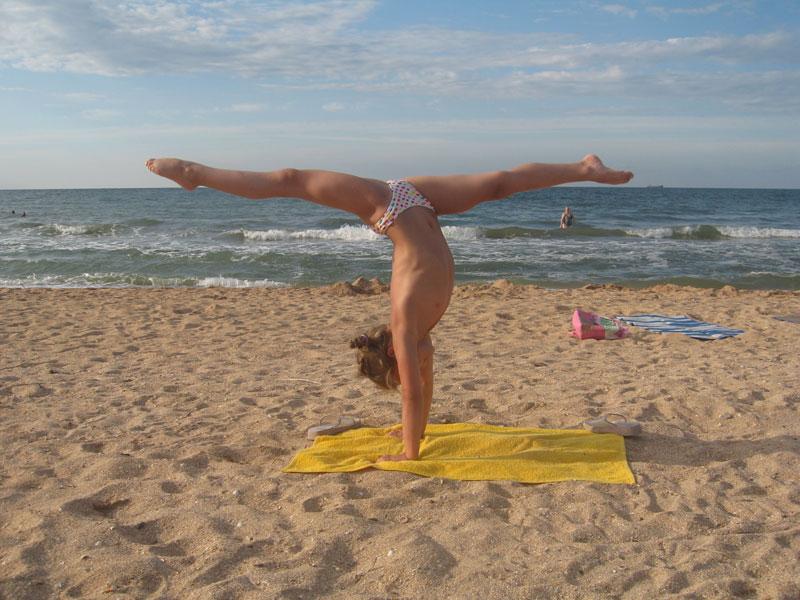Тренировка. Ксюшка Лето 2009 Азов