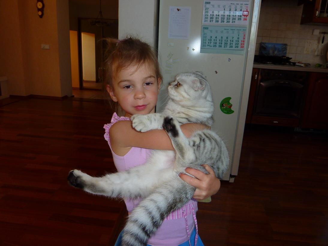 Пуся и Марси. Ребенок и   котенок