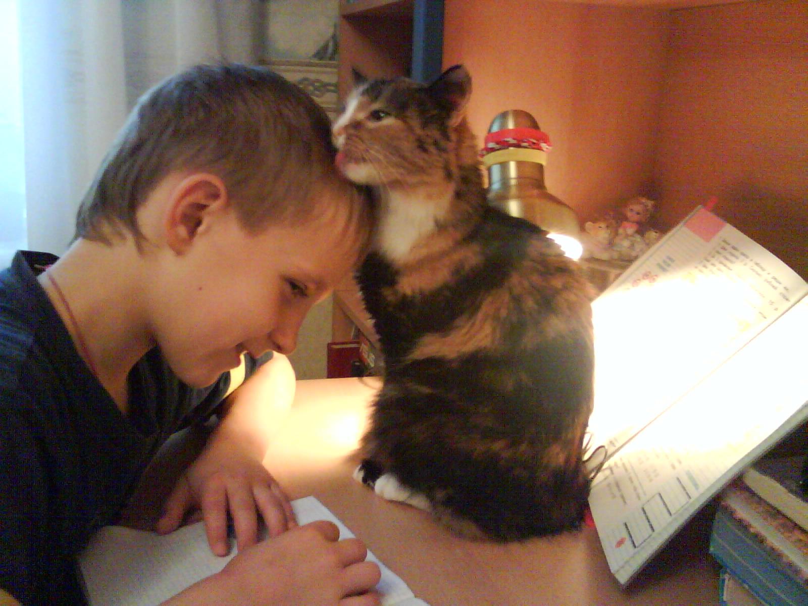 Глаша подлииииза!!!!!. Ребенок и   котенок