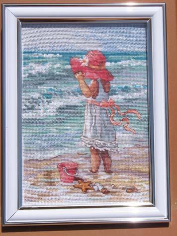 Девочка на берегу.. Пейзажи