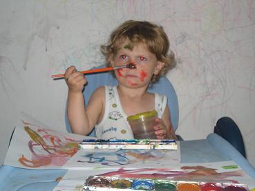 Маленький художник))). 'ВыТворяшки'