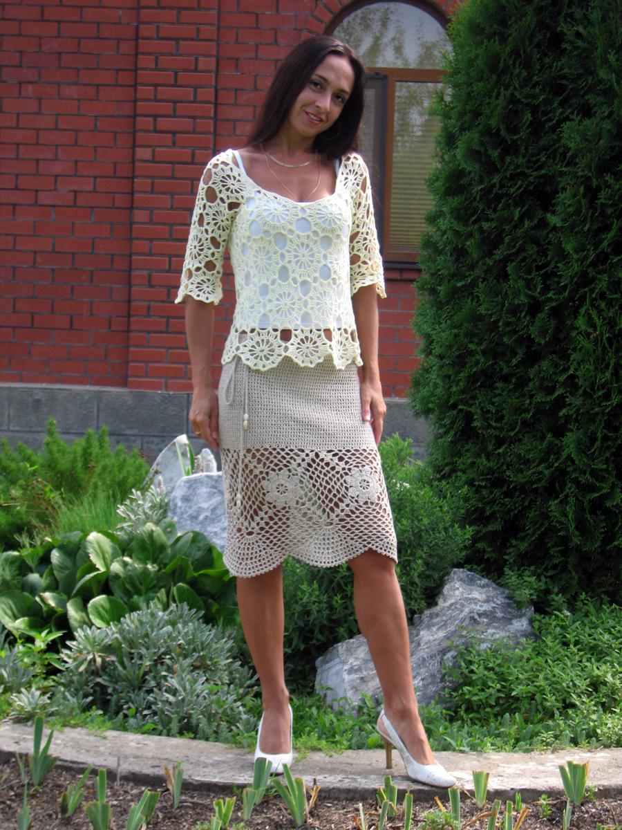 Юбка и блуза. Одежда