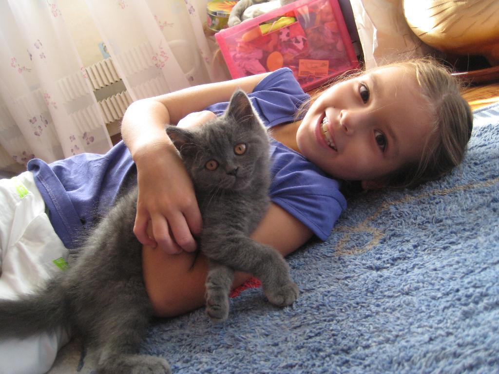 мой друг Фимка. Ребенок и   котенок