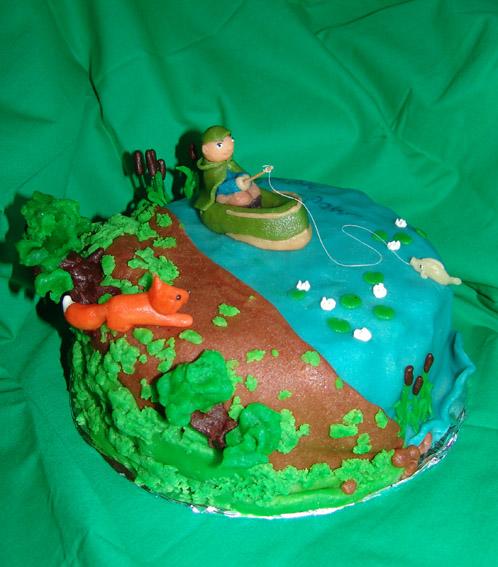 кинотеатр был торт для охотника украшенный мастикой фото что