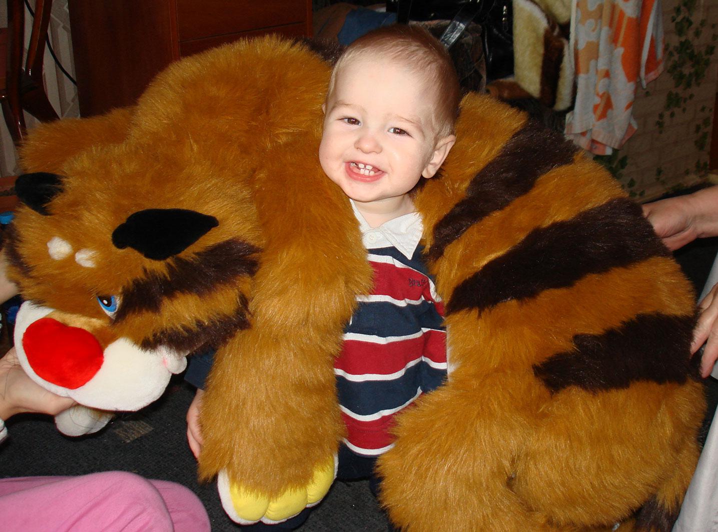 Тигр на воротник. Мои игрушки