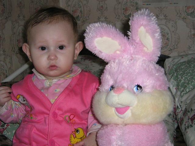 мой любимый зайчик. Мои игрушки