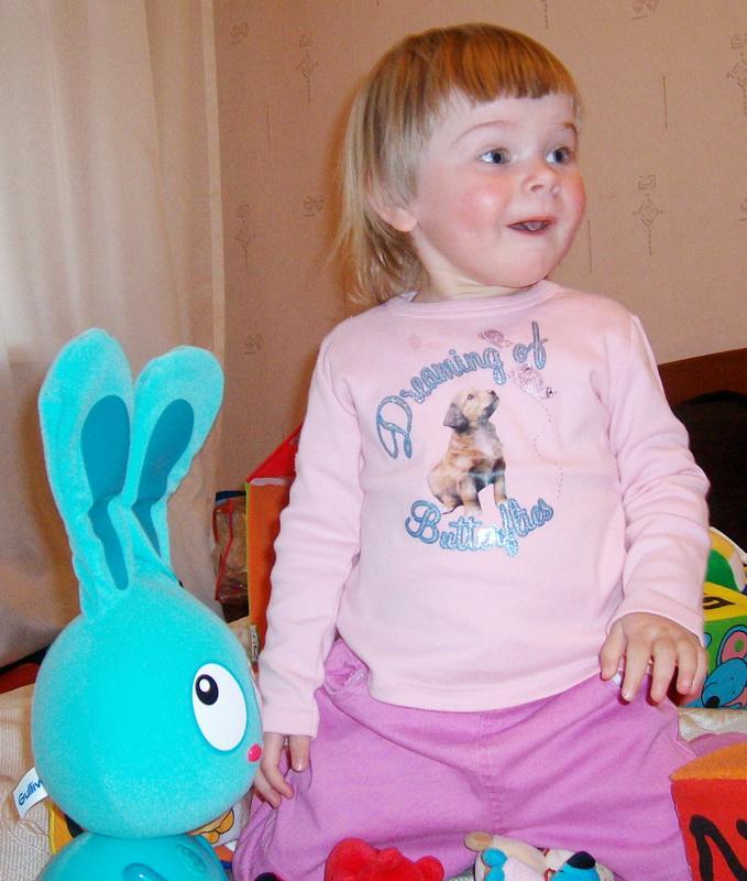 Даша и заяц. Мои игрушки