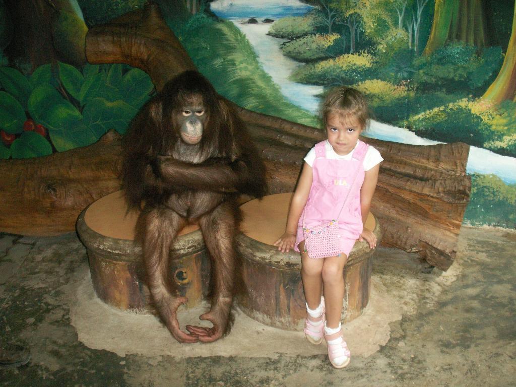Алена с другом ( отличная пара). Закрытое голосование фотоконкурса 'В зоопарке'