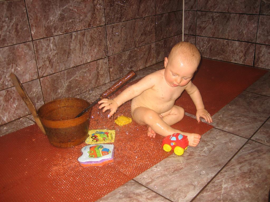 В бане.