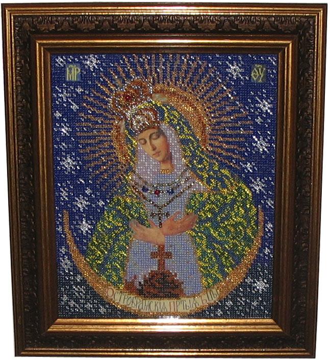 Острабрамская Богородица. Вышивка бисером