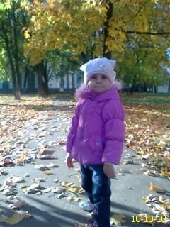 Моя малышка!!!. Осенняя прогулка