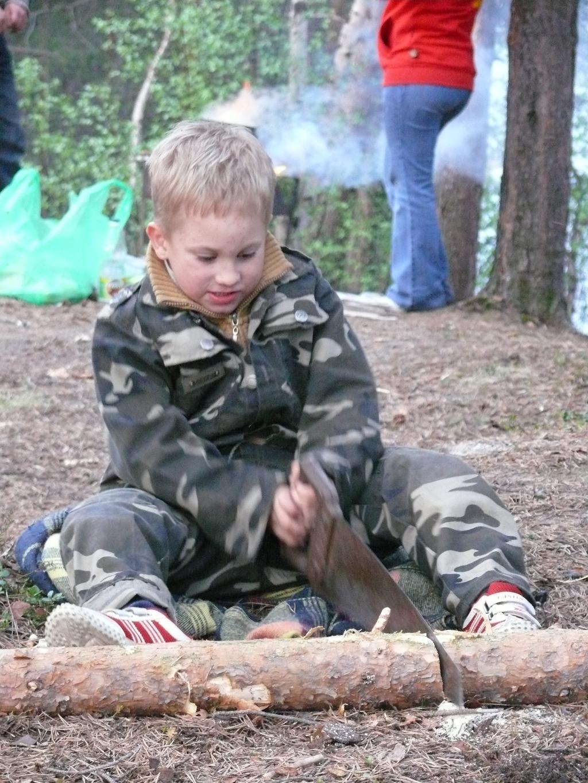 Заготовка дров. Выходные на природе