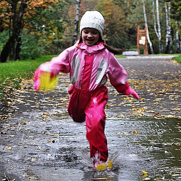 Осенняя прогулка в парке. Выходные на природе