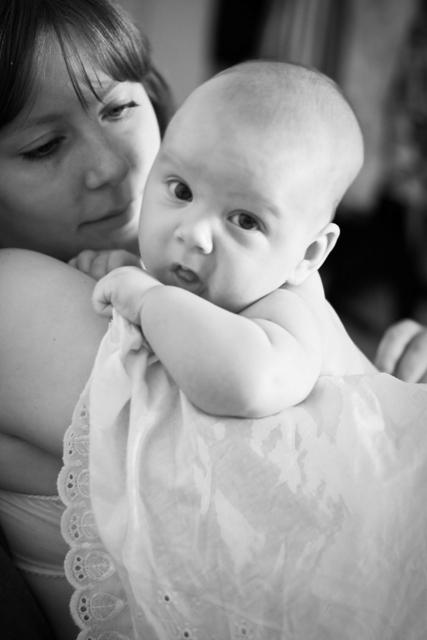 Матюша с мамой. Мадонна с младенцем