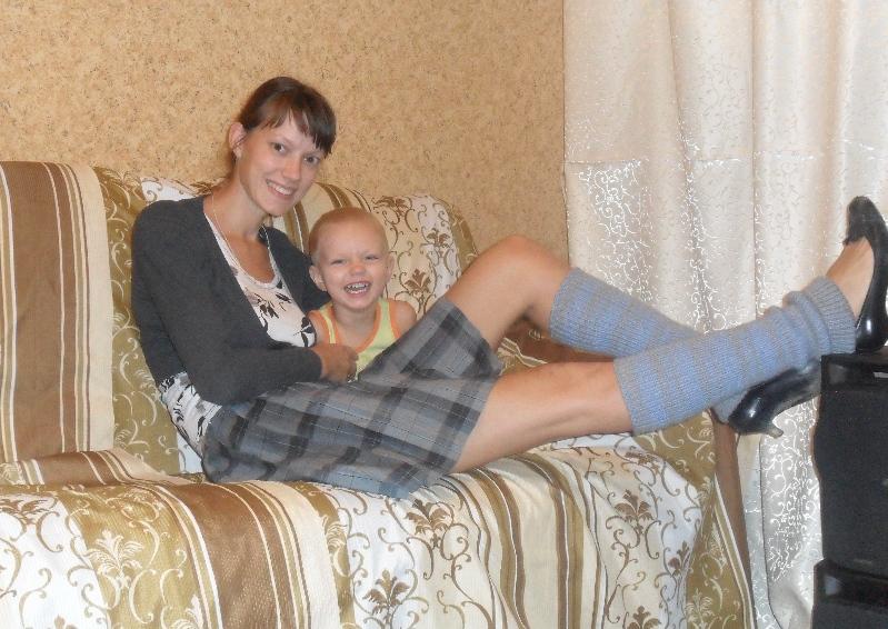 Жить весело!. Мадонна с младенцем