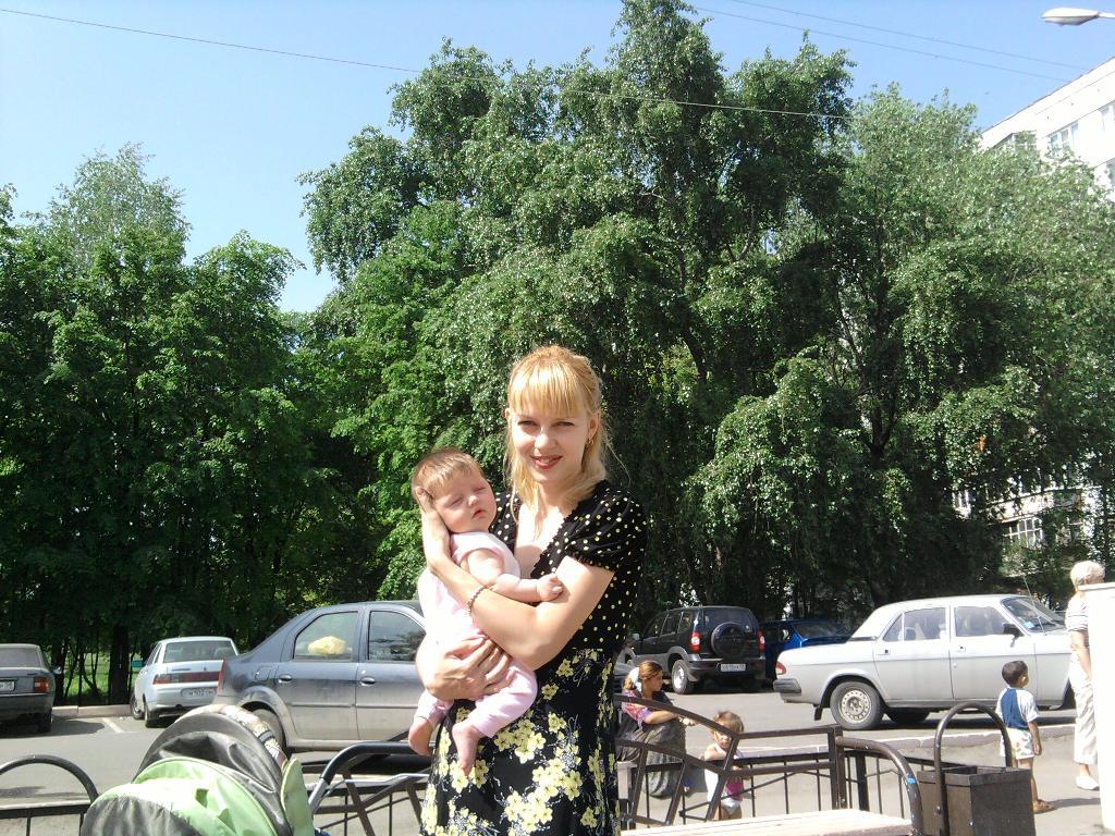 Мы с моей крошечкой Ульяшечкой. Мадонна с младенцем