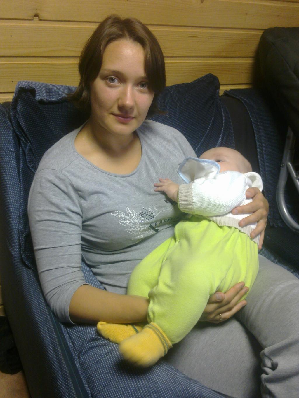 С кресным сыном на руках. Мадонна с младенцем