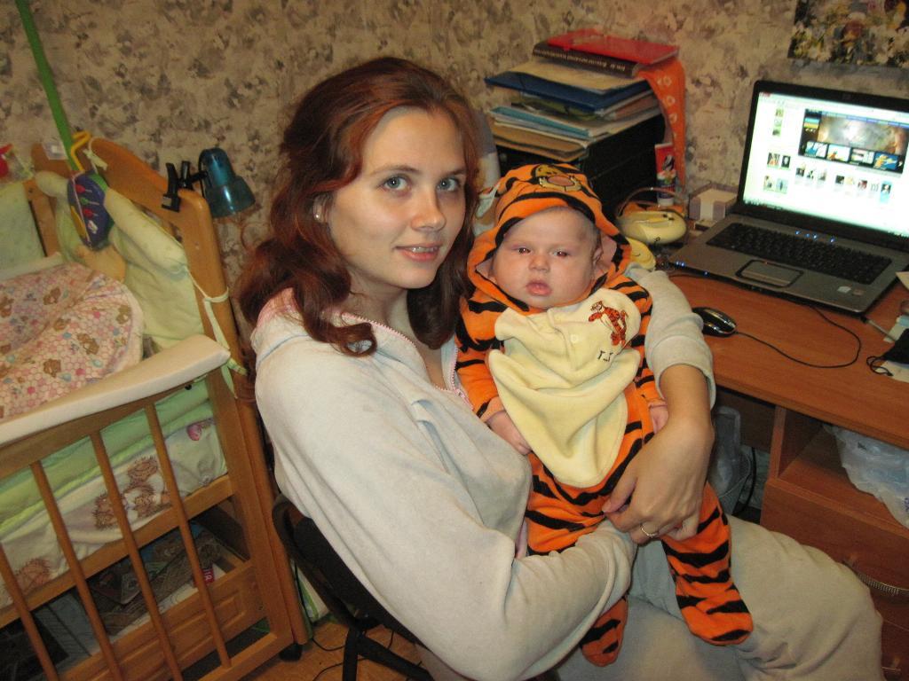 Мамулечка и тигрОля. Мадонна с младенцем