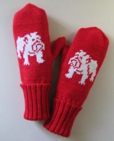 Варежки с рисунком 'Английский бульдог '.. Перчатки, варежки, носки, пинетки, обувь