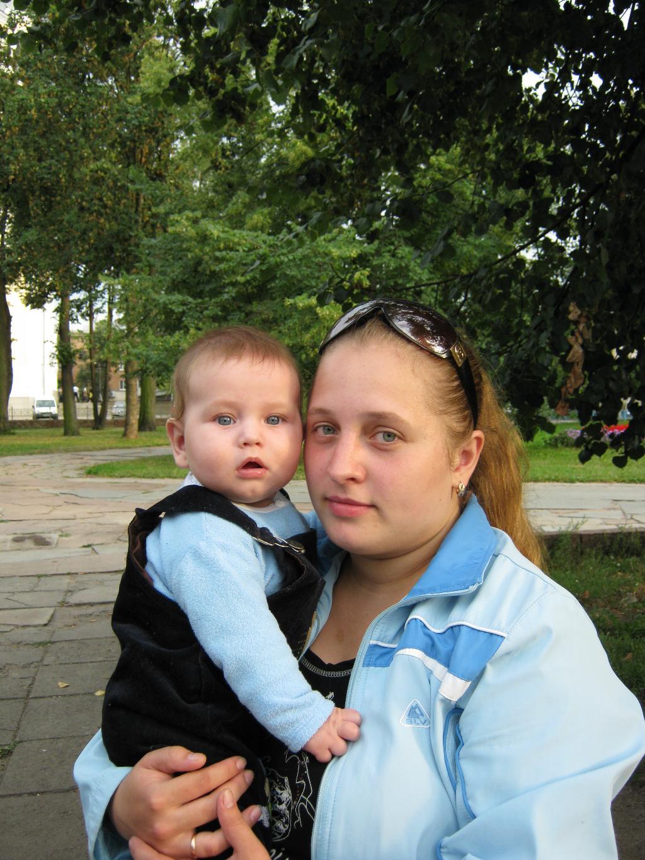 я с сыночком Владиславом. Мадонна с младенцем