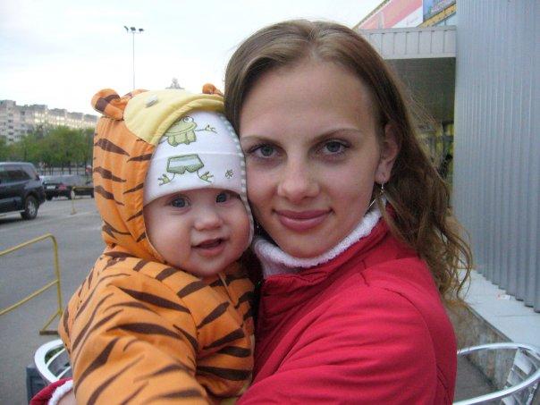 Мама со своим тигрёнком). Мадонна с младенцем
