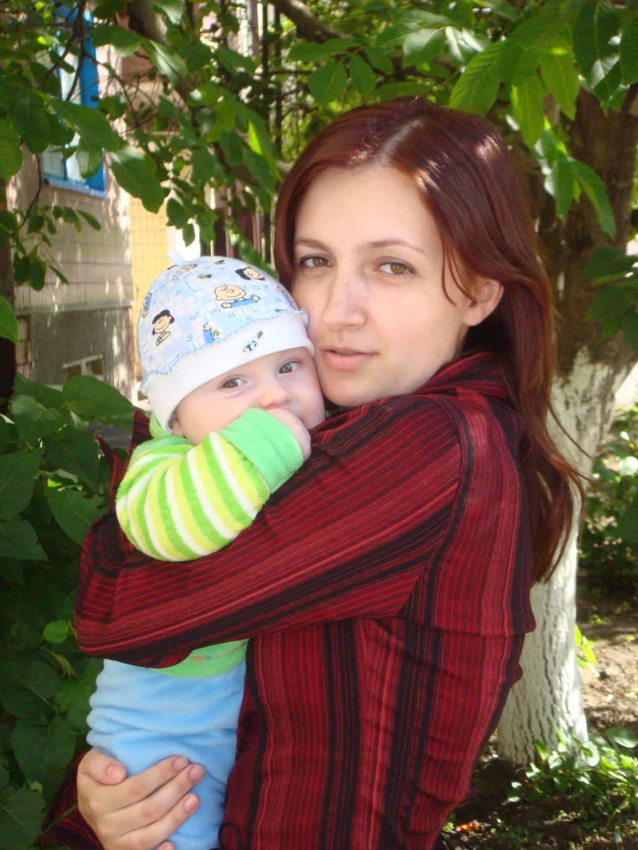 Я с сыночком Ростиком. Мадонна с младенцем