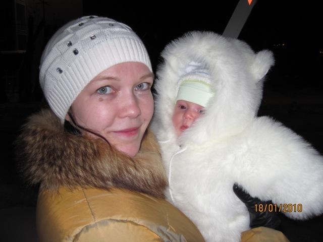 Мама с Мишей Медвежонком. Мадонна с младенцем