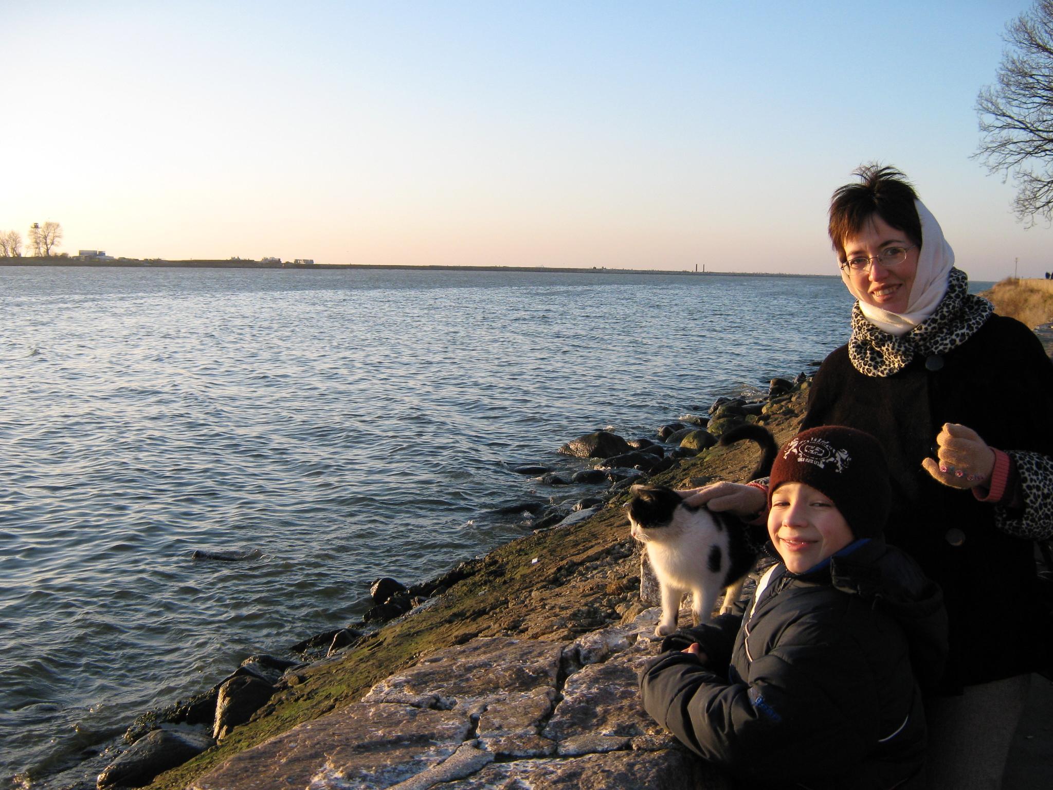 Поездка В Балтийск .Мы и местный кот.. Осенняя прогулка