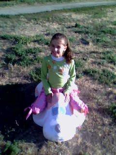 моя младшая сестра. Выходные на природе