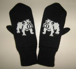 Варежки с рисунком'Английский бульдог'. Перчатки, варежки, носки, пинетки, обувь