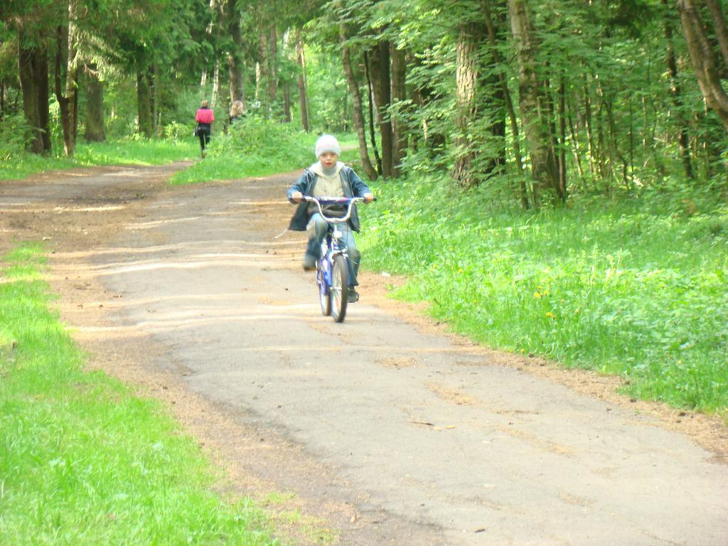 Мчусь по лесной тропинке.. Укрощение велосипеда