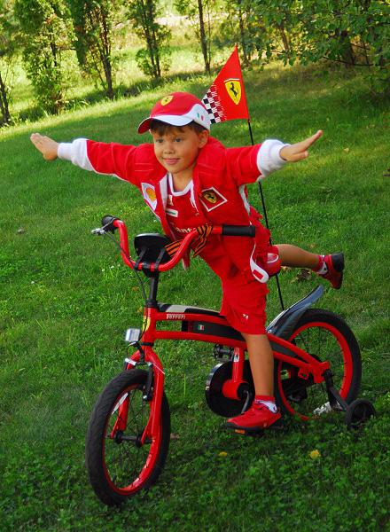 Маленький Шумахер:). Укрощение велосипеда